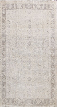 Paisley Muted Distressed Tabriz Persian Area Rug 8x11
