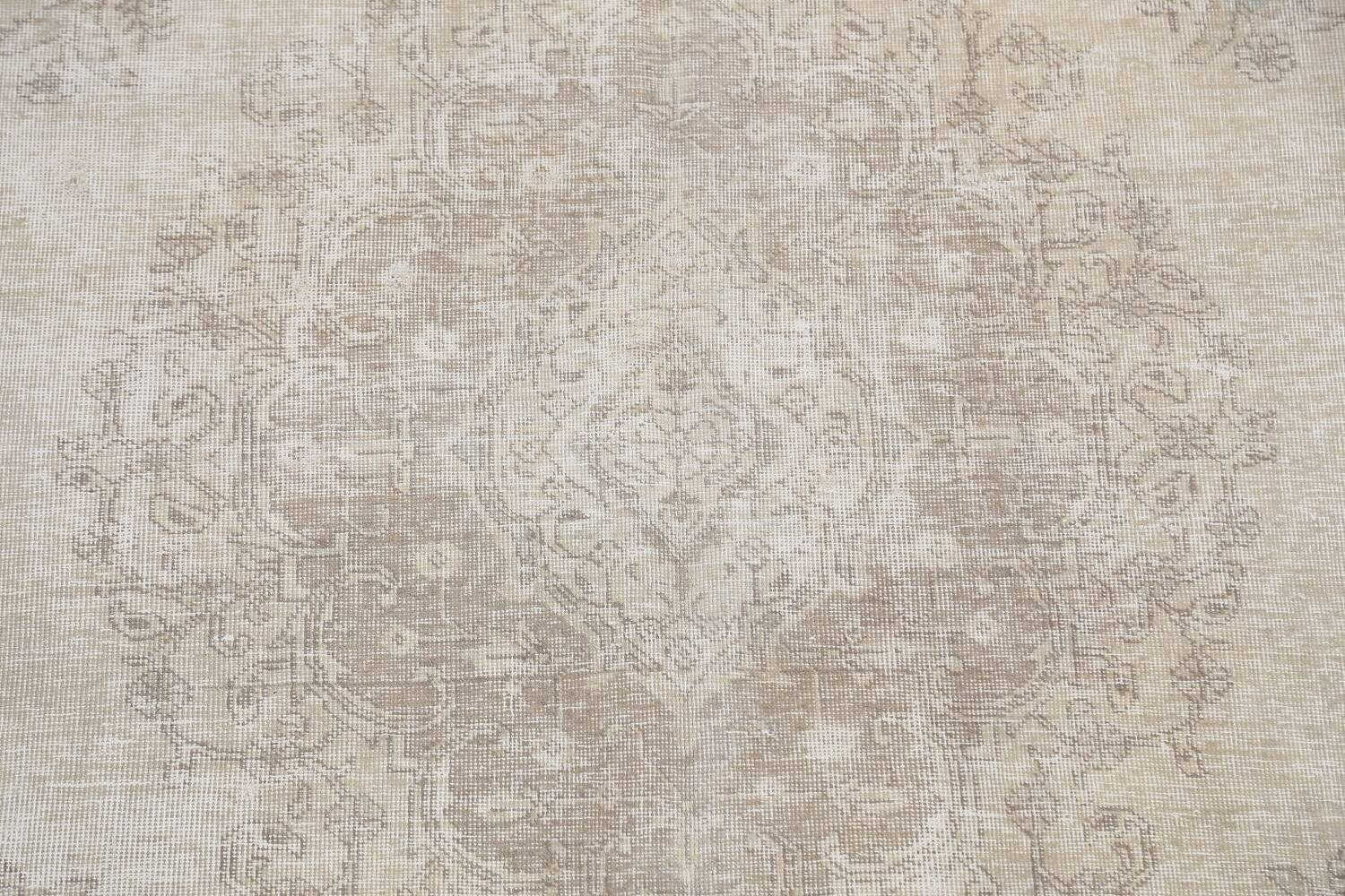 Muted Distressed Floral Tabriz Persian Area Rug 6x9 image 4