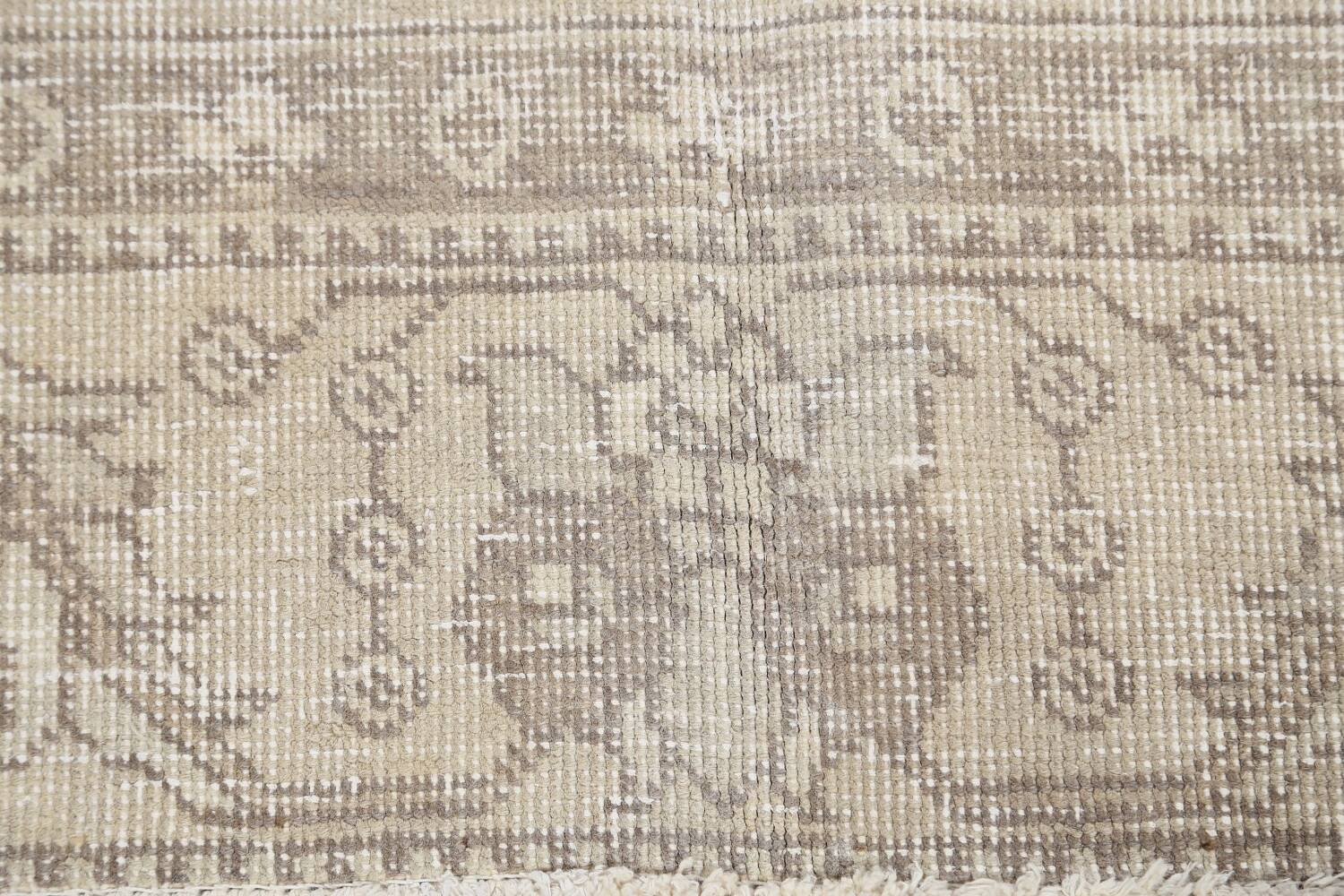 Muted Distressed Floral Tabriz Persian Area Rug 6x9 image 9