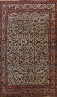 Pre-1900 Antique Bidjar Vegetable Dye Persian Area Rug 11x16