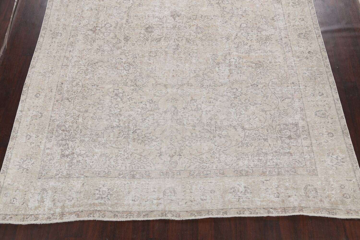 Muted Distressed Tabriz Persian Area Rug 10x13 image 8