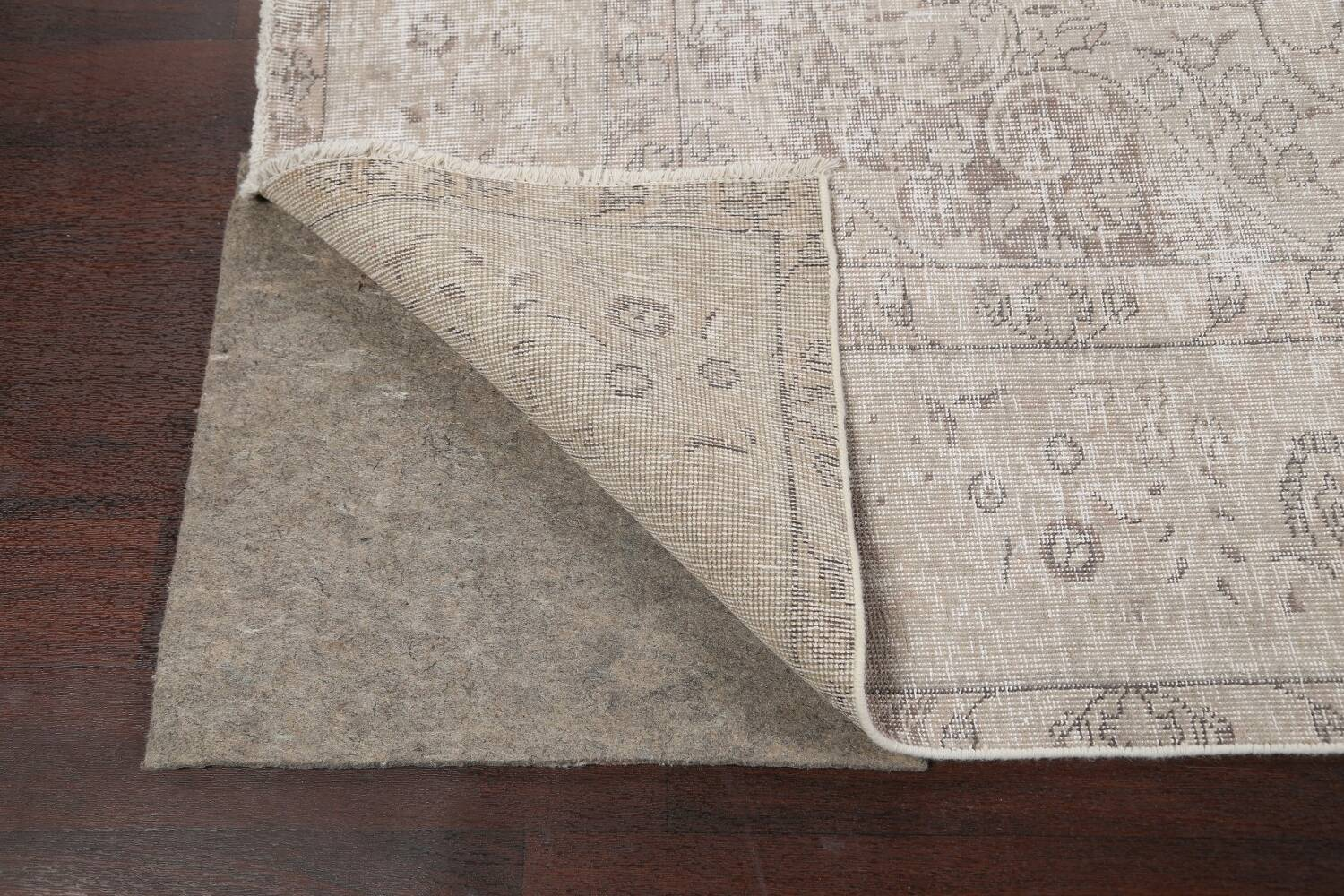 Muted Distressed Tabriz Persian Area Rug 10x13 image 7
