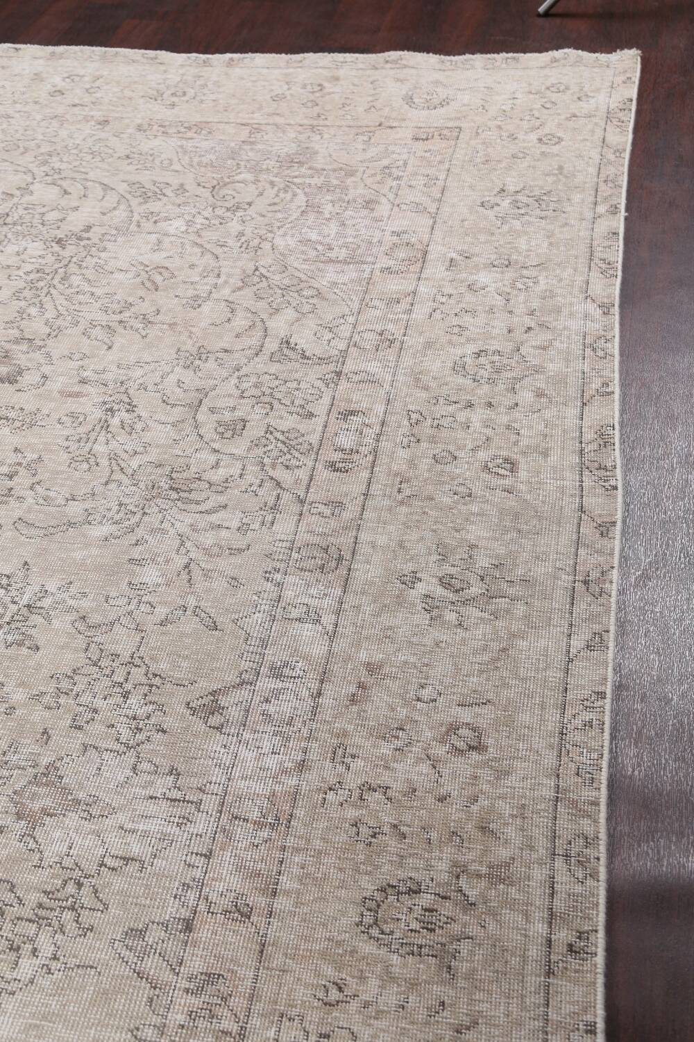 Muted Distressed Tabriz Persian Area Rug 10x13 image 14