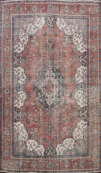 Distressed Tabriz Persian Area Rug 10x12
