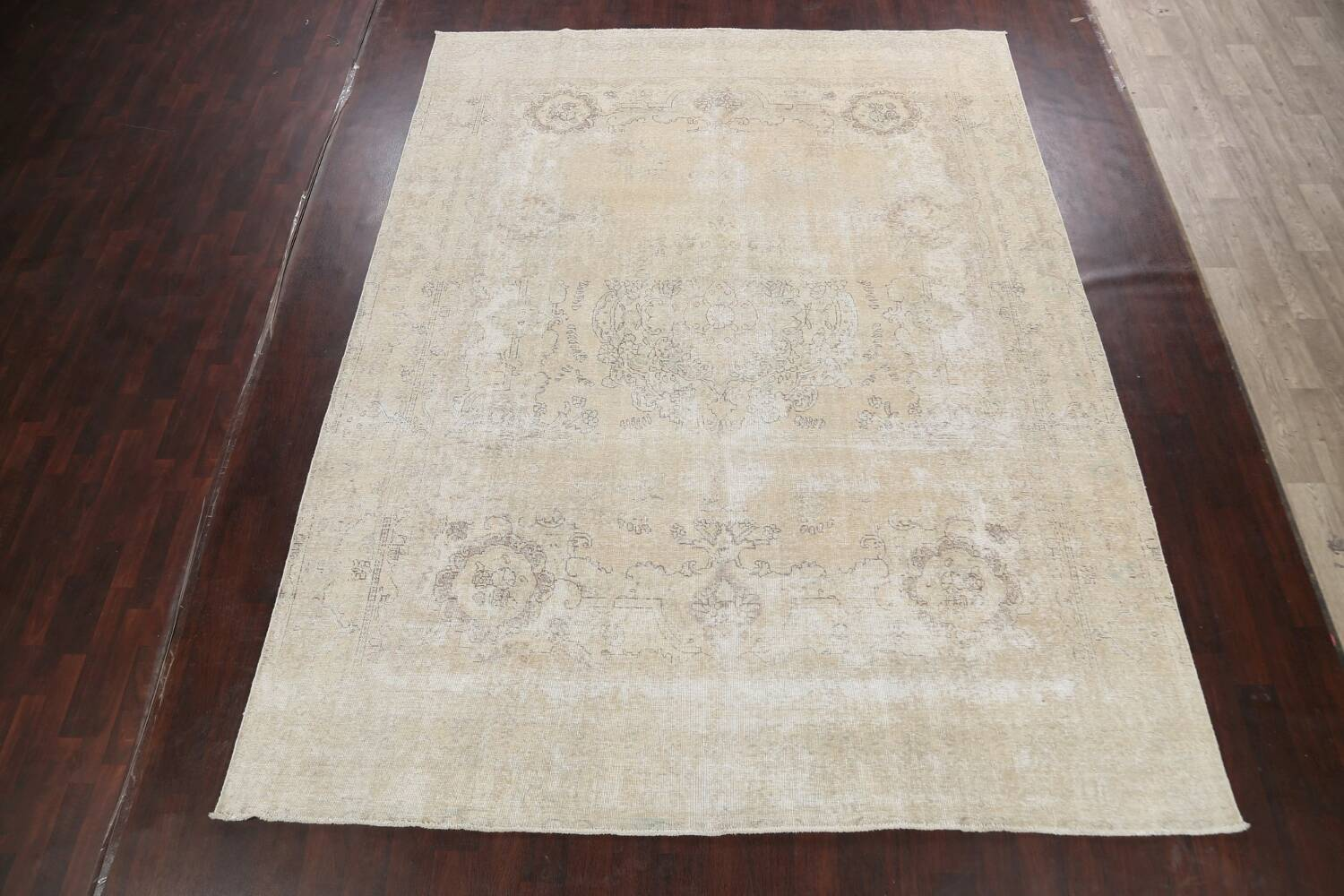 Muted Distressed Tabriz Persian Area Rug 9x12 image 2