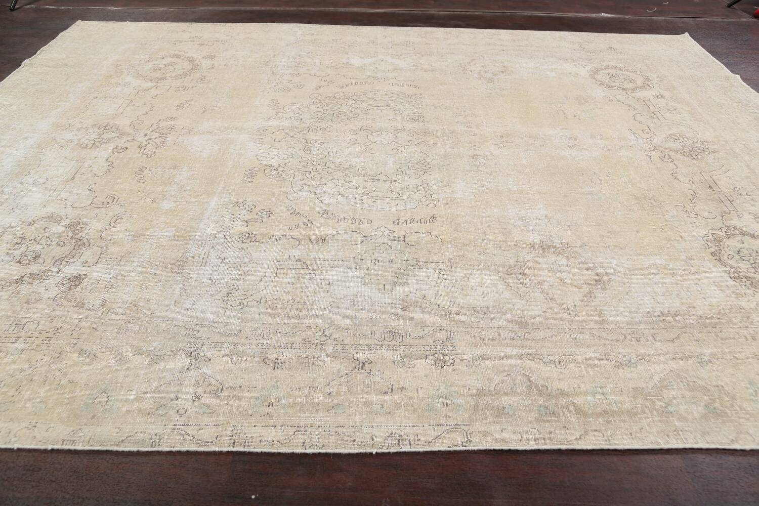 Muted Distressed Tabriz Persian Area Rug 9x12 image 13