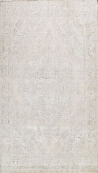 Distressed Floral Tabriz Persian Area Rug 10x12