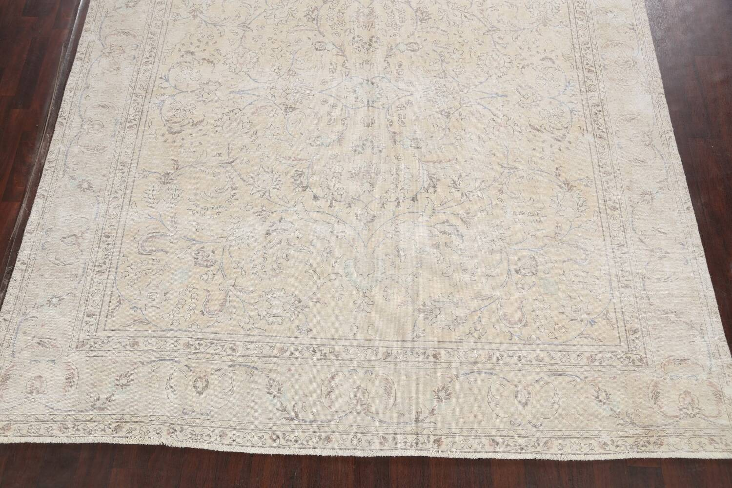 Antique Distressed Floral Tabriz Persian Area Rug 9x11 image 8