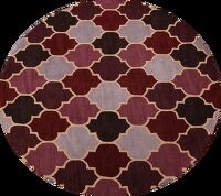 All-Over Round Agra Oriental Area Rug 8x8