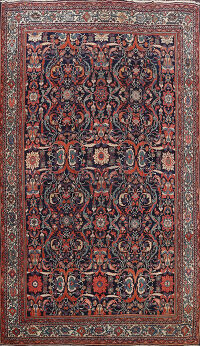 Pre-1900 Antique Sultanabad Persian Area Rug 9x12