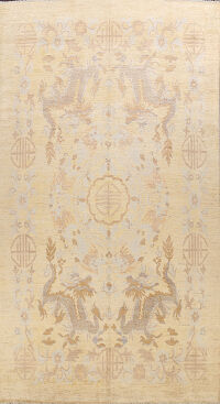 Chinese Dragon Art Deco Oriental Area Rug 9x13