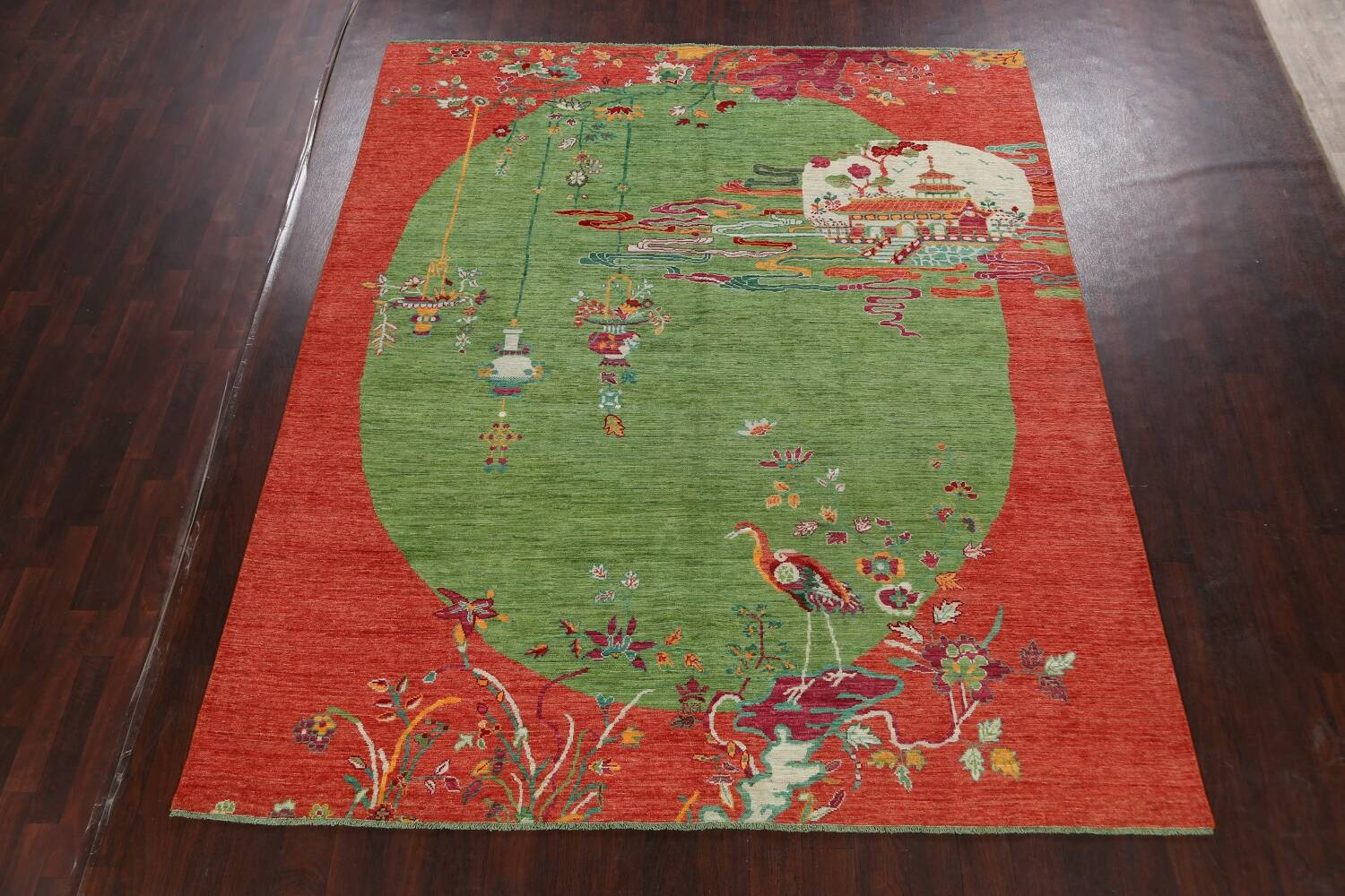 Pictorial Art Deco Chinese Oriental Area Rug 8x10 image 2