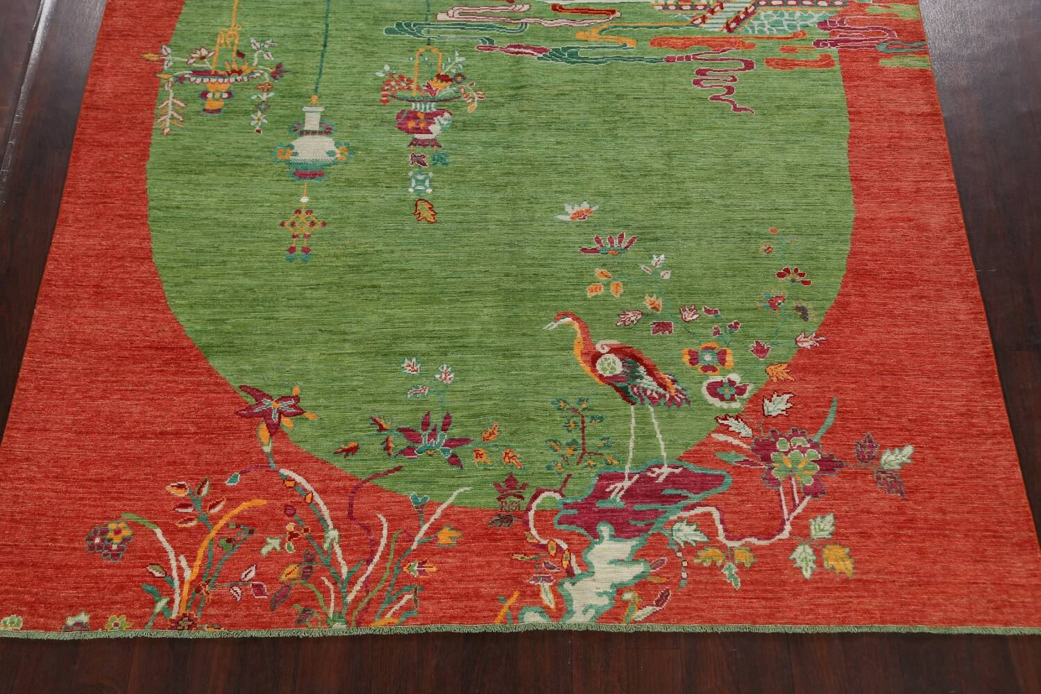 Pictorial Art Deco Chinese Oriental Area Rug 8x10 image 8
