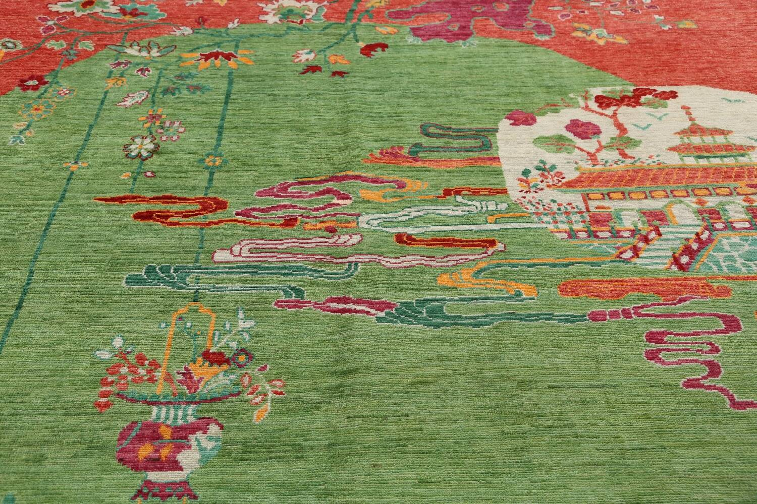 Pictorial Art Deco Chinese Oriental Area Rug 8x10 image 13