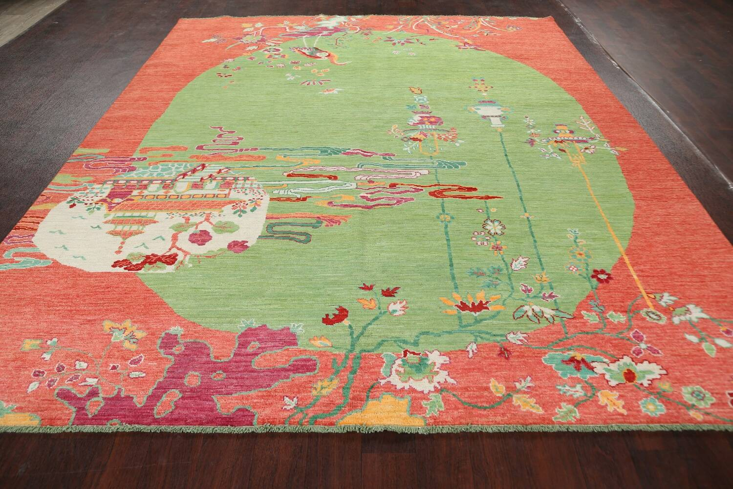 Pictorial Art Deco Chinese Oriental Area Rug 8x10 image 16