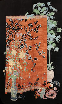 Floral Pictorial Art Deco Oriental Area Rug 14x19 Large