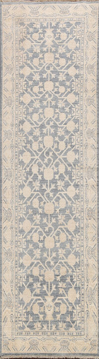 Vegetable Dye Oushak Turkish Oriental Runner Rug 3x9