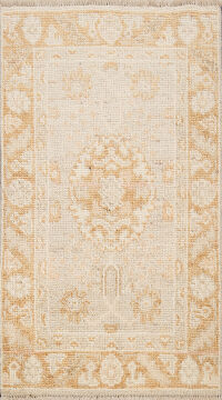 100% Vegetable Dye Oushak Oriental Area Rug 2x3