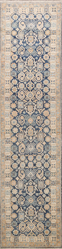 Vegetable Dye Oushak Turkish Oriental Runner Rug 3x11