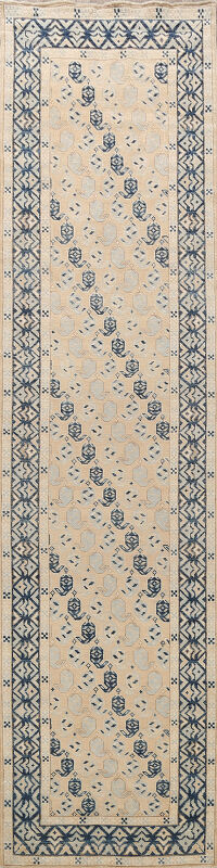 Vegetable Dye Oushak Turkish Oriental Runner Rug 3x12