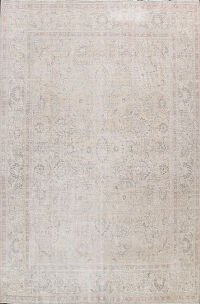 Muted Distressed Tabriz Persian Area Rug 10x11