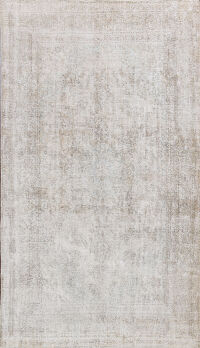Muted Distressed Tabriz Persian Area Rug 9x12