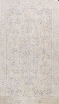 Muted Distressed Floral Tabriz Persian Area Rug 8x12