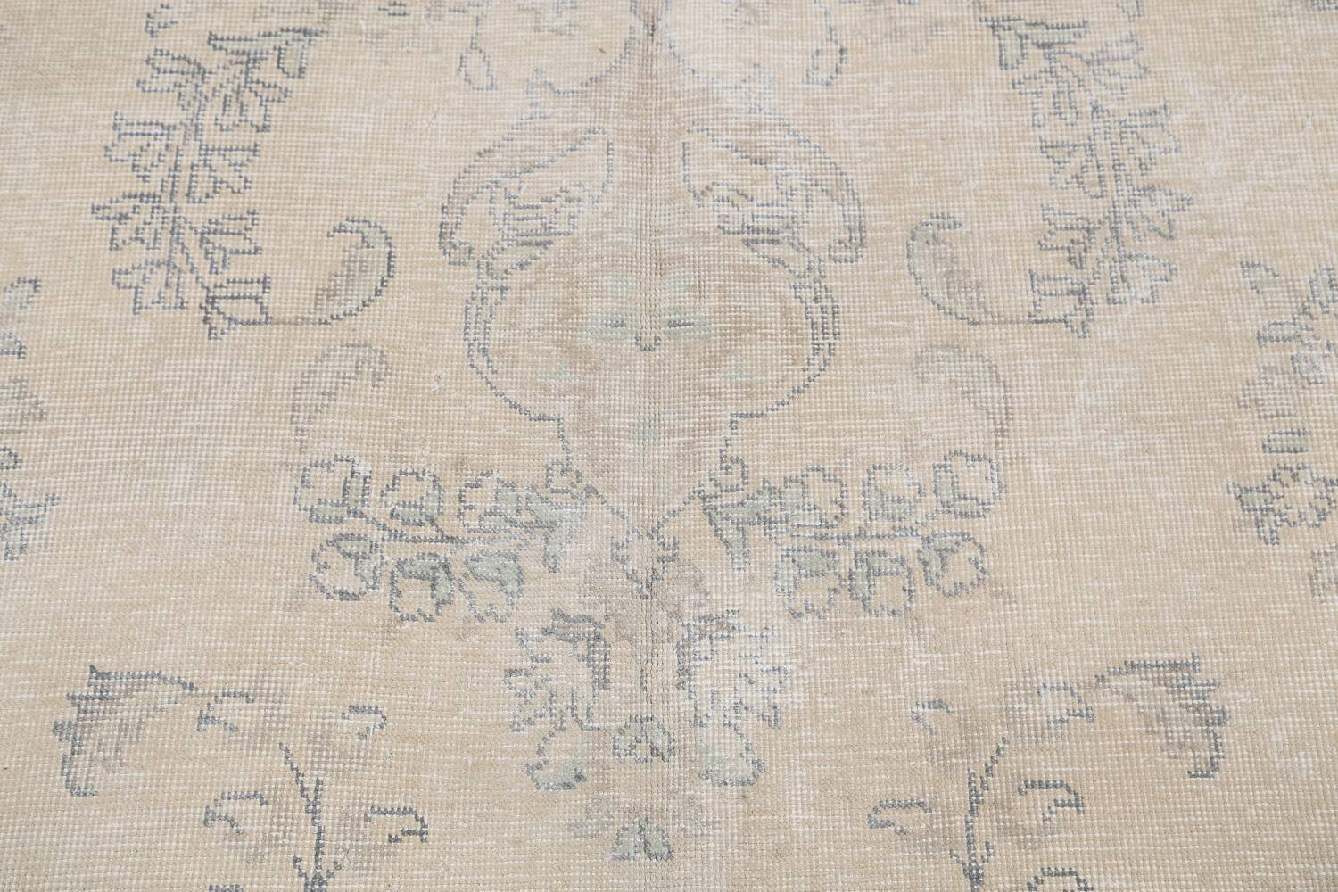 Muted Distressed Floral Tabriz Persian Area Rug 8x12 image 10