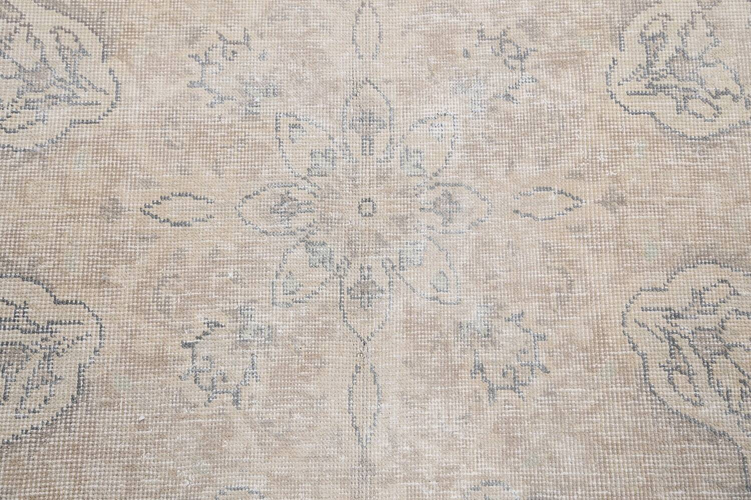 Muted Distressed Floral Tabriz Persian Area Rug 8x12 image 11