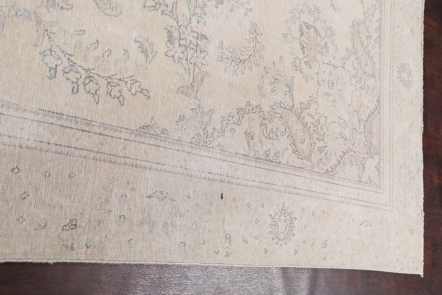 Muted Distressed Floral Tabriz Persian Area Rug 8x12 image 13