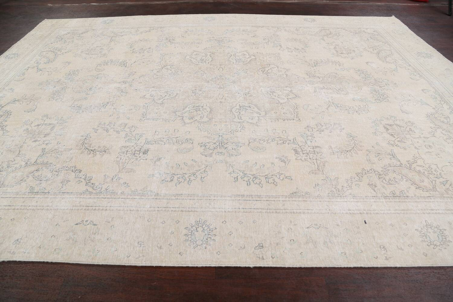 Muted Distressed Floral Tabriz Persian Area Rug 8x12 image 14