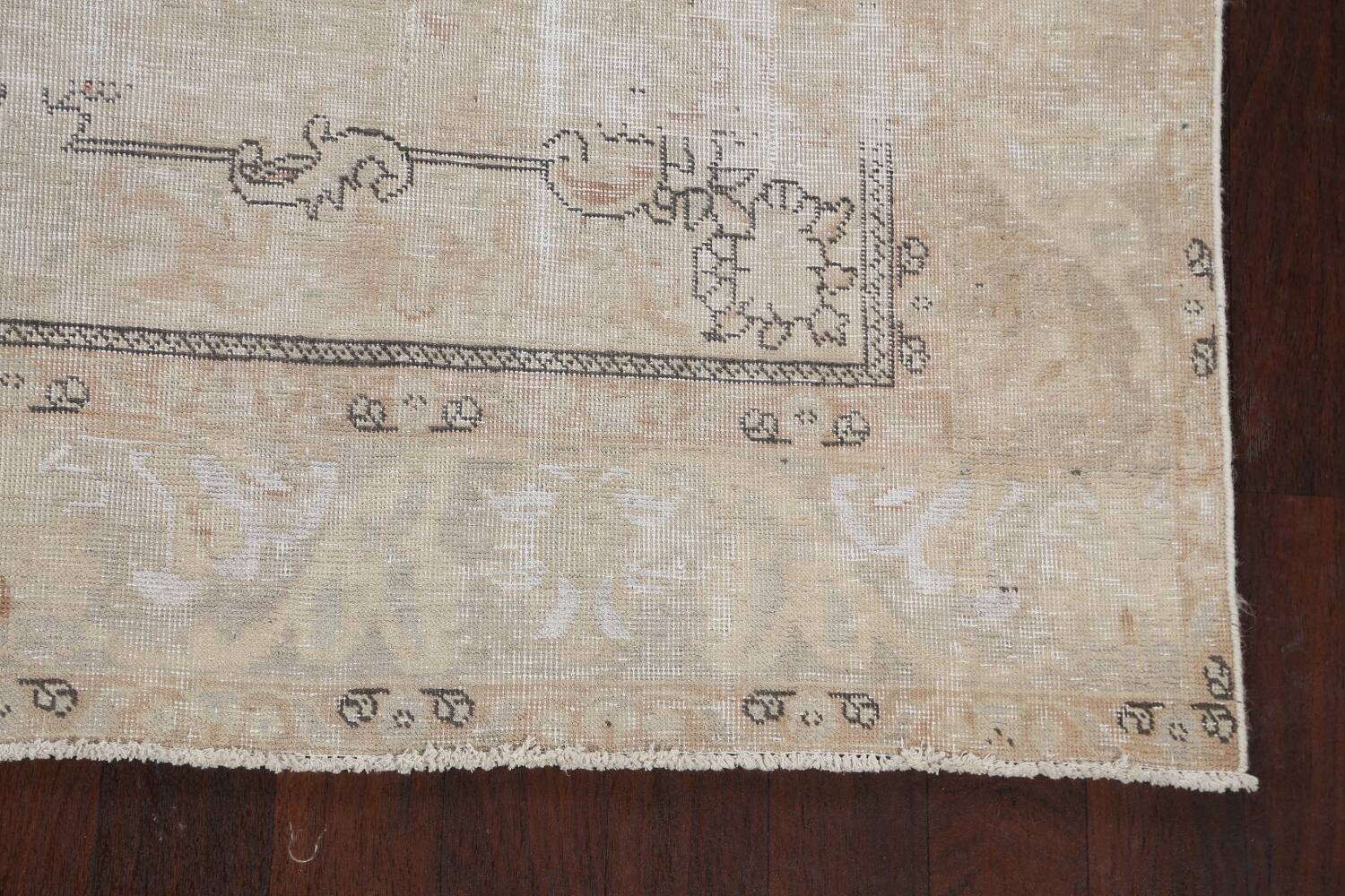 Muted Distressed Tabriz Persian Area Rug 6x10 image 5