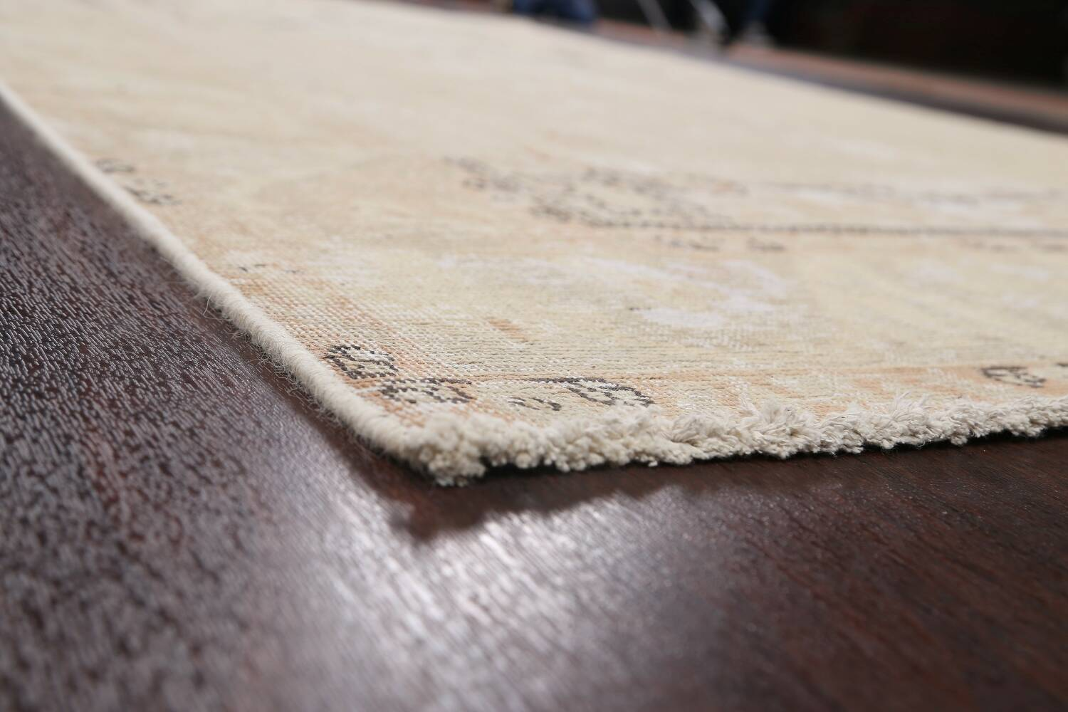 Muted Distressed Tabriz Persian Area Rug 6x10 image 6