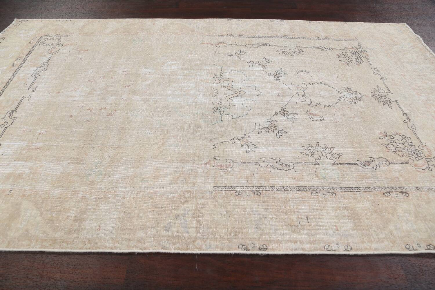 Muted Distressed Tabriz Persian Area Rug 6x10 image 13