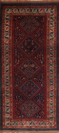 Antique Tribal Lori Persian Area Rug 6x11