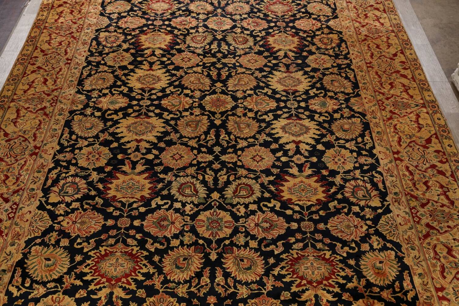 All-Over Floral Agra Oriental Area Rug 13x17 Large image 3