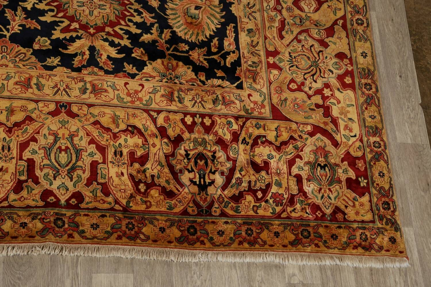 All-Over Floral Agra Oriental Area Rug 13x17 Large image 5
