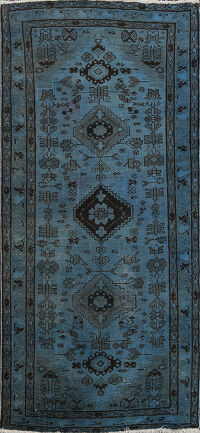 Over-dye Tribal Hamedan Persian Area Rug 3x6