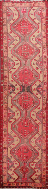 Tribal Ardebil Persian Runner Rug 3x12