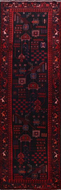 Tribal Meshkin Persian Runner Rug 4x10