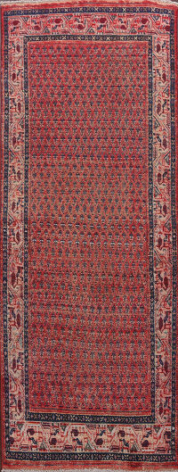 All-Over Boteh Botemir Persian Runner Rug 3x9
