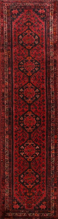 Geometric Shiraz Persian Runner Rug 3x10