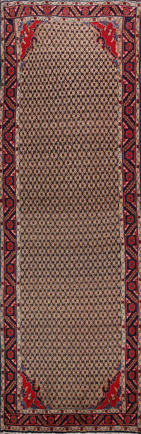 All-Over Koliaei Persian Runner Rug 4x10