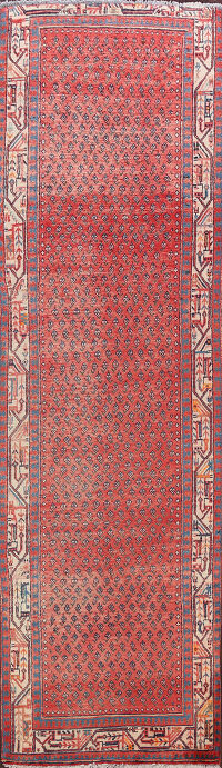 All-Over Boteh Botemir Persian Runner Rug 3x10