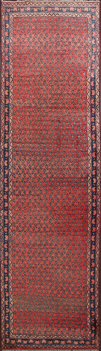 All-Over Boteh Botemir Persian Runner Rug 3x11