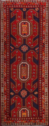 Tribal Ardebil Persian Runner Rug 4x10