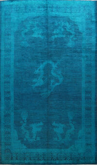 Over-dye Animal Pictorial Art Deco Oriental Area Rug 9x12
