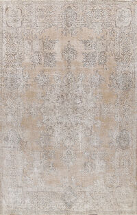 Distressed Floral Tabriz Persian Area Rug 8x10