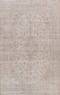 Distressed Floral Kerman Persian Area Rug 9x12