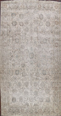 Large Floral Distressed Tabriz Persian Area Rug 10x15